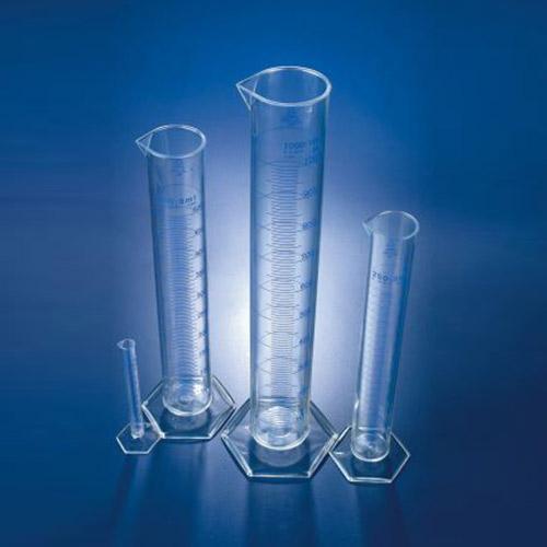 استوانه مندرج پایه شش گوش شیشه ای