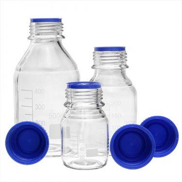 بطری شیشه ای درب پیچ دار