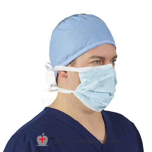 خرید ماسک جراحی آبی | ماسک جراحی بنددار | بهترین قیمت ماسک جراحی سه لایه