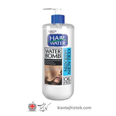 کرم آبرسان مو کامان مدل Collagen+Keratin سری Hair Water حجم 400 میل