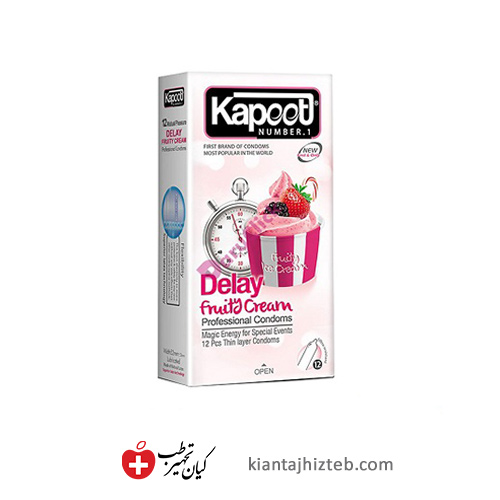 کاندوم کاپوت delay fruity cream تاخیری میوه ای