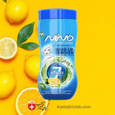 دستمال مرطوب پاک کننده آرایش نینو 70 عددی