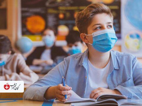 تشویق کودکان به ماسک زدن