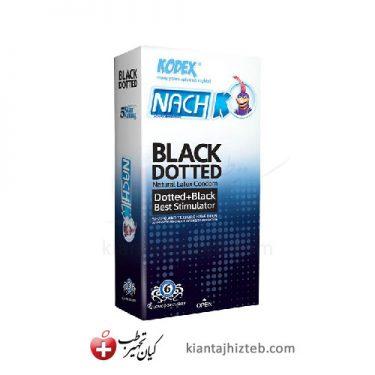 کاندوم کدکس BLACK DOTTED خاردار و حلقوی 12 عددی