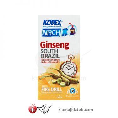 کاندوم کدکس Ginseng تاخیری، خاردار و حلقوی با حس گرما 12 عددی