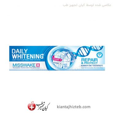 خمیر دندان Misswake سفید کننده روزانه حجم 100 میل