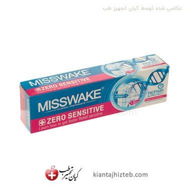 خمیردندان Misswake دندان حساس مدل zero sensitive حجم 100 میل